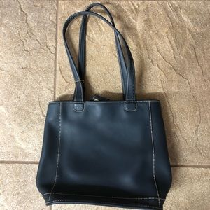 Leather Navy Coach Purse